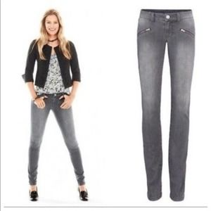 CAbi Gray Zip Skinny Jeans Style # 5167 Size 4